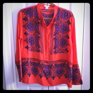 J. Crew Collection Dervish silk tunic paisley xs s
